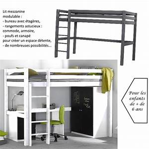 Lit Mezzanine Pour Enfant : lit mezzanine pour studio maison design ~ Teatrodelosmanantiales.com Idées de Décoration