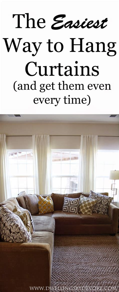 the easiest way to hang curtain rods and get them even