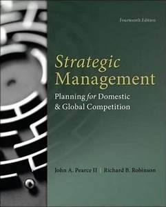 Strategic Management Pearce 14th Edition Solutions Manual