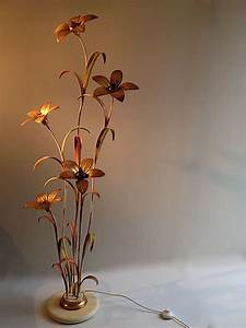 Maison jansen metal flower floor lamp decorative collective for Large flower floor lamp