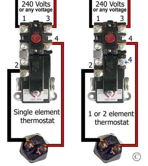 How Wire Water Heater Thermostats