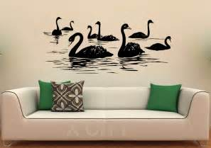 wall interior designs for home aliexpress buy swan birds wall decal lake vinyl stickers flying animal home interior