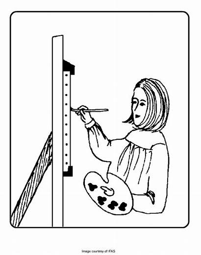 Coloring Pages Artist Colouring Painting Printable Sheets