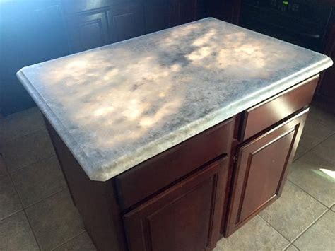 sky blue countertop cabinets with light countertops