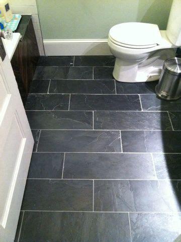 big reveal bathroom makeover slate flooring