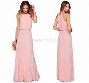 pink chiffon sleeveless bridesmaid dresses 2015 new With wedding maid of honor dresses