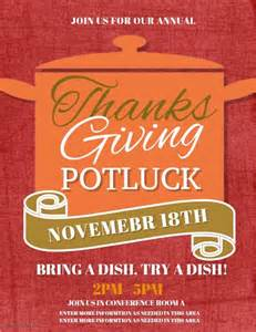 Potluck Flyer Template Free