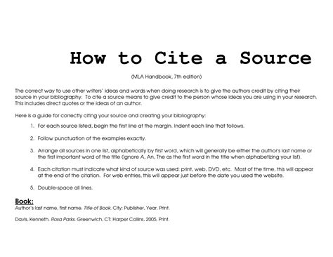 citing sources  mla style enclibraryinstruction