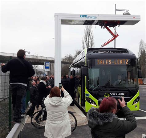 abb delivers oppcharge fast charger  electric hybrid buses