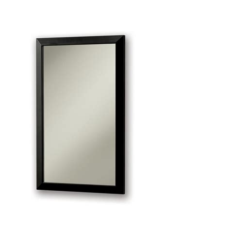 black recessed medicine cabinet shop broan city 16 1 2 in x 26 1 2 in black metal surface