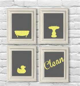 digital no bathroom set in yellow by oliveruepress