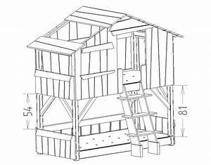 Lit Enfant Dimension : lit enfant superpos cabane en bois massif ~ Teatrodelosmanantiales.com Idées de Décoration