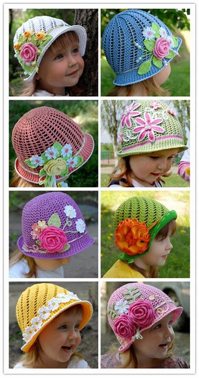Crochet Pattern Hats Panama Summer Diy Wonderful