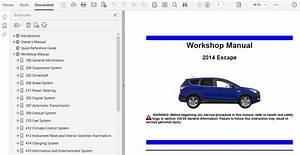 2014 Ford Escape Repair Manual