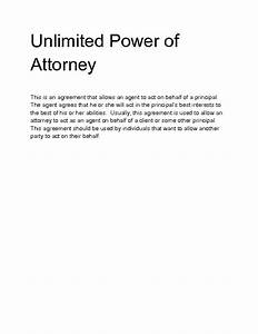 Unlimited power of attorney template best free home design idea inspiration for Unlimited power of attorney