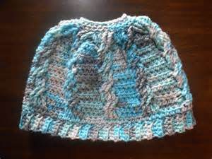 Free Pattern Crocheted Hat Messy Bun