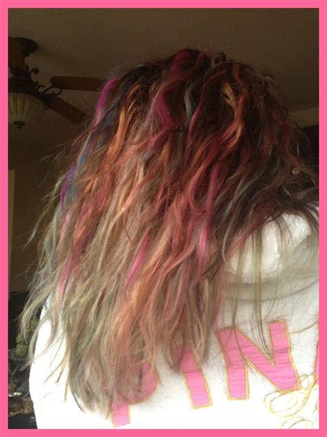 Ombre Tye Dye Hair ~ Ombre Rainbow Hair Dyed Hair Ombre