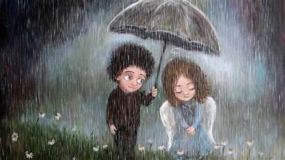 Rain Positive Angel Wallpaperup