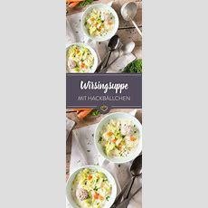 Wirsingsuppe Mit Kleinen Hackbällchen  Rezept Suppen