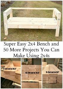 Easiest 2x4 bench plans ever ana white board and for Homemade 2x4 furniture