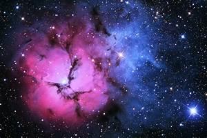 Colors galaxy Glow nebula Pink planets sky space stars ufo ...
