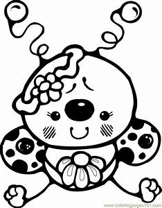 Cute Bug Black And White Clipart - Clipart Suggest