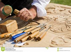 Craftsman carving wood stock image Image of activity