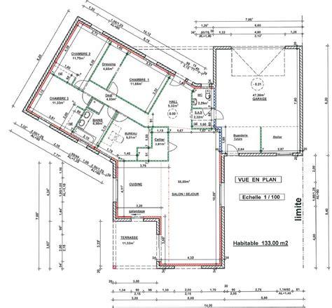maison avec 4 chambres plan maison 4 chambres 130m2
