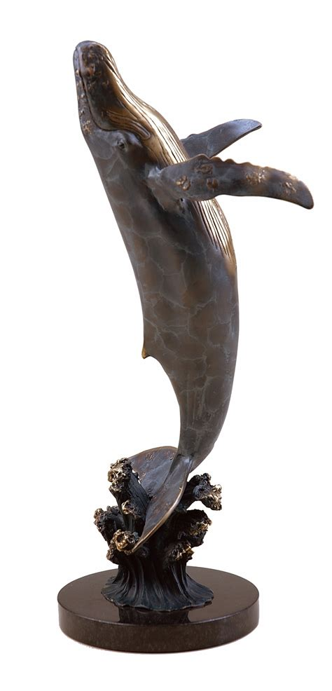 Large Humpback Whale Sculpture By Spi Home $253, You Save