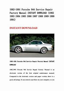 1982 1991 Porsche 944 Service Repair Factory Manual