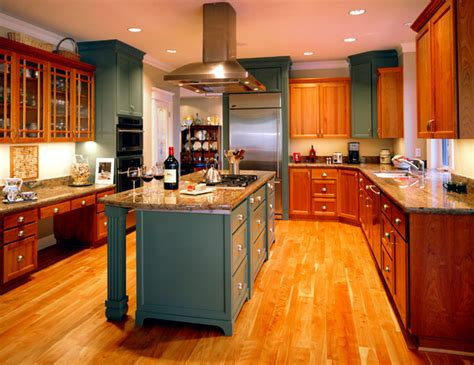 kitchen cabinets wood colors mixed color cabinets 6491
