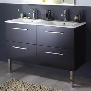 grand meuble salle de bain meuble double vasque pas cher With meuble de salle de bain vasque