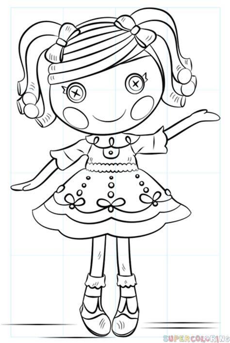 draw lalaloopsy doll step  step drawing tutorials