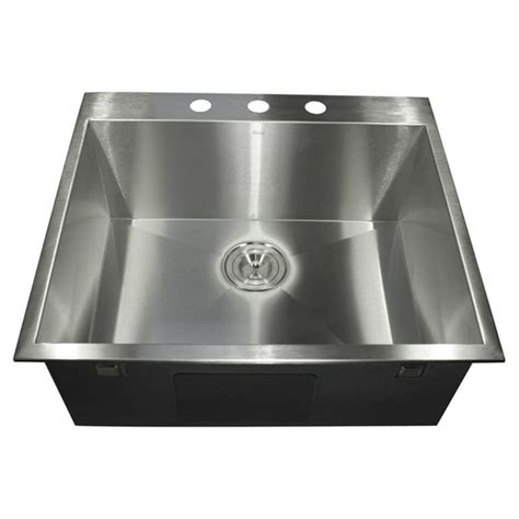stainless steel drop in utility sink stainless steel zero radius drop in sink 13684524