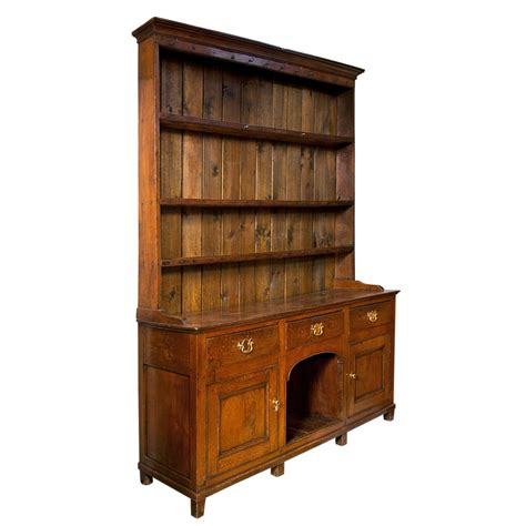 Sideboard With Hutch by Antique Oak Sideboard With Shelved Hutch At 1stdibs