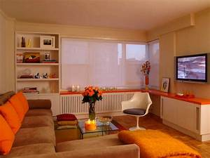 Adorable burnt orange and brown living room image of for Burnt orange and brown living room concept