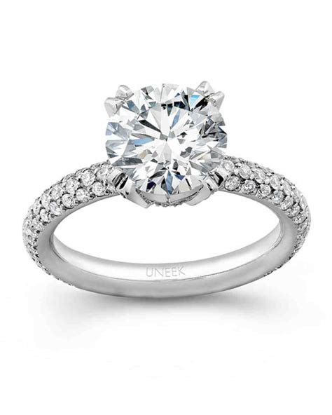 round cut diamond engagement rings martha stewart weddings