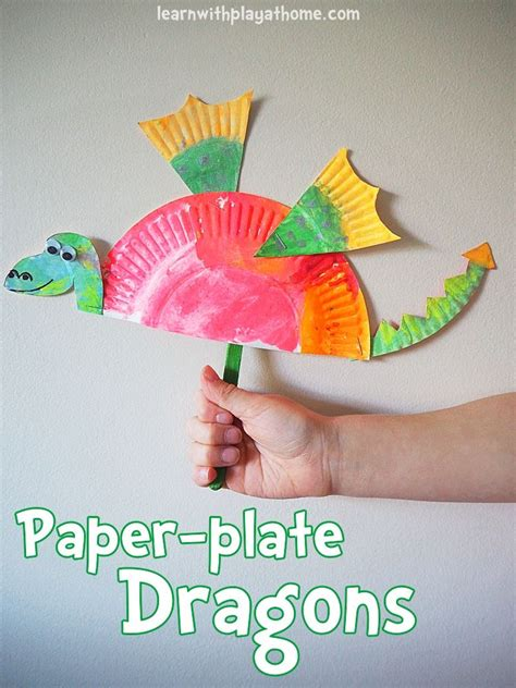 simple paper plate dragon craft dragon crafts paper