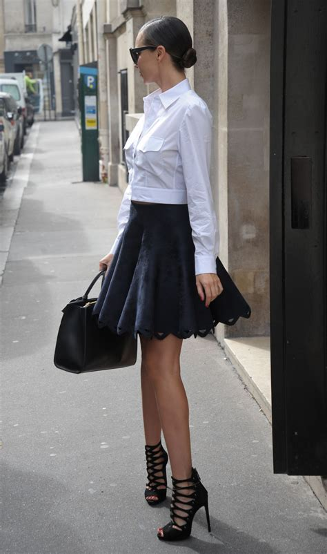 miranda kerr  mini skirt   paris october