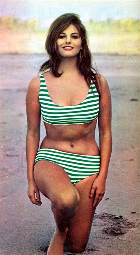 claudia cardinale bikini claudia cardinale 60s summer style green and white