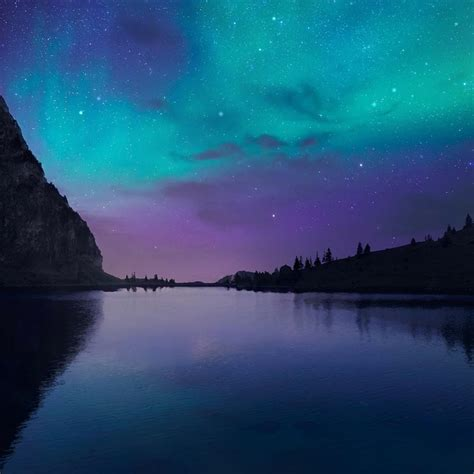 aurora lake wallpaper engine  wallpaper