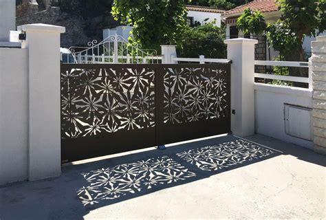 portail design coulissant en fer alu ou acier portail