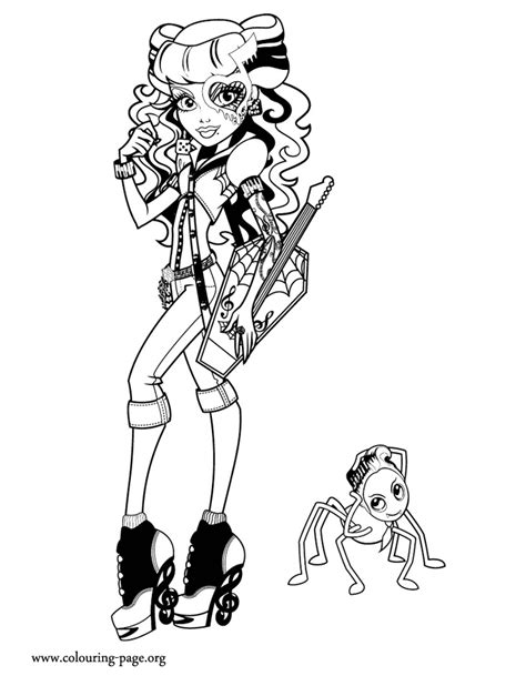monster high operetta   pet coloring page