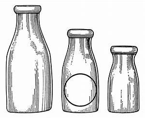 Milk Bottles Clip Art | Old Design Shop Blog