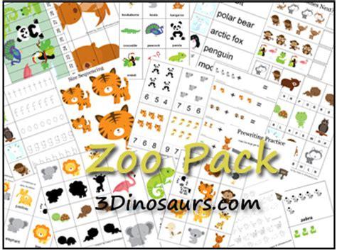 educational freebie printable zoo preschool pack money