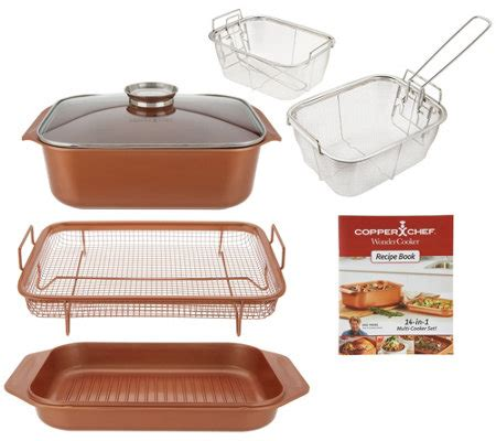 copper chef  piece     cooker cooking system page  qvccom