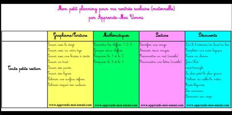 plan de travail bureau sur mesure mon petit planning scolaire pour la rentrée maternelle