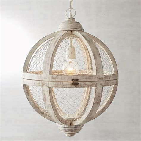 chicken wire pendant light cernel designs