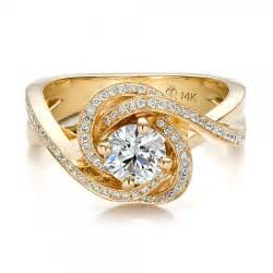 yellow gold engagement ring custom yellow gold and engagement ring 100433 bellevue seattle joseph jewelry