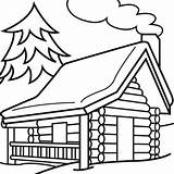 Cabin Outline Clipart Log Woods Clip Coloring Library Hut Sketch Transparent Printable Webstockreview Vectory Excellent Adults Arts Template sketch template